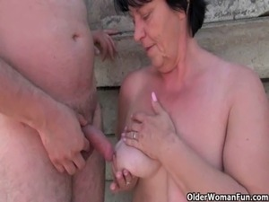 Grannies and milfs suck and fuck outdoors free