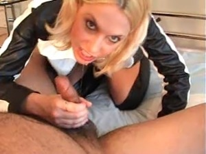 leather jacket blowjob