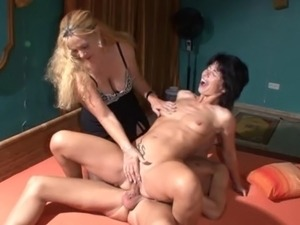 A couple of skinny mature women