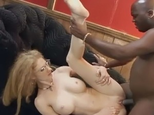 Horny milf decides to satisfy her pierced cunt and tight ass with hard black...