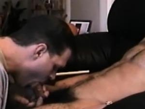 Gay latino jock gets a bj while watching porn