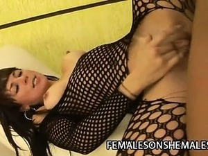 Andreia Mel - Hot Shemale Loves Fucking Pussies
