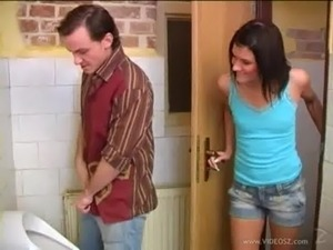 Debbie helps guy to cum in the  ... free