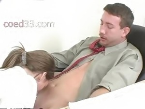 cute young girl rages with her teacher