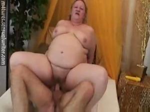 Fat Mature Has Fun