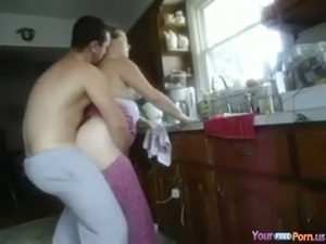 Kitchen Doggystyle Quickie free