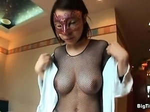 Cute Japanese babe with big natural tits part2