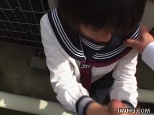 Japanese schoolgirl sucks cock Uncensored free