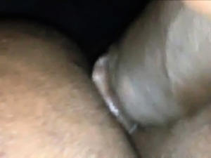 Amateur Ebony Couple Closeup Assfucking