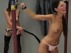 Sub With Fine Tits Is Tied And Whipped Hard