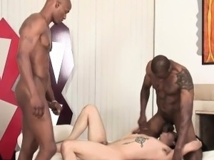 Brave white guy craving for black cocks