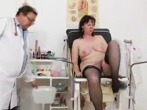 The Mature lady inside Stockings has Examined By the Doctor