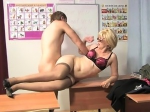 Russian mature teacher
