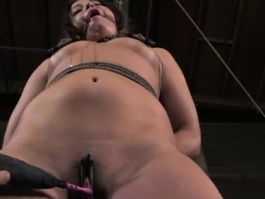 Frogtie hogtied slut being suspended