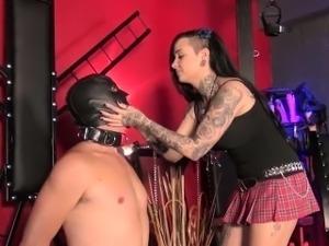 English femdom spanking and humiliating sub