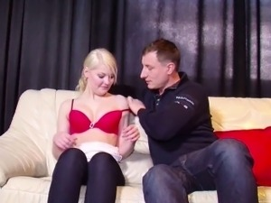 Real Porn Casting for German Blonde Teen Christin with Jason