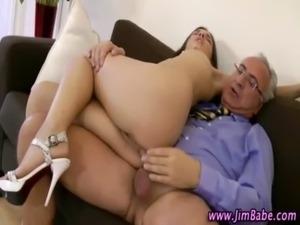 Older guy fucking younger girl free