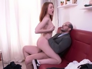 Tricky Old Teacher - Sandra gets tricked into sex