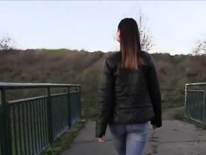 Ukrainian slut fucked for money outdoors