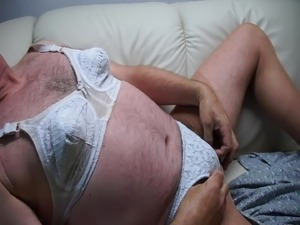 precum in paties and pantyhose