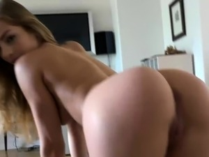 Sydney Cole gives you a hand job, blow job, and foot job.