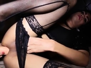 Ladyboy pov assfucked after playing with her favorite dildo