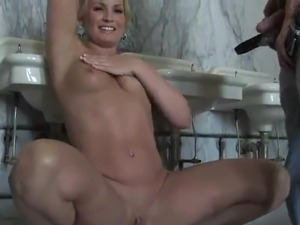 Cute White haired has unclothed And touches this big boner