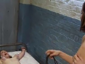 Dirty Nurse Rubbing Her Patient's clitoris While Strapon bonking Her mound
