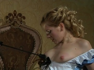Master humiliates his housemaid and treats her like a slave.