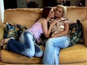 Red head And Blonde honeys Love Each Other onto A bed