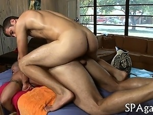 Raunchy and wild ramrod sucking for gay hunk