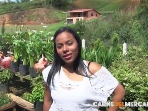 CarneDelMercado - Latina takes huge penis - colombian