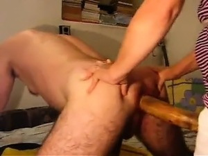Girl friend fucks me along with her large strapon