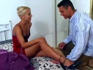 Dazzling Blonde Nicolette Is So hot inside Foot Fetish