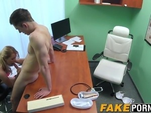 Blonde doctor Nikky Dream having rough sex with her patient
