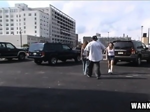 Dazzling blonde amateur gets picked up on the street and drilled hard