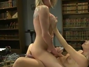 Aiden Aspen And India Summer play sex game around the screwing Machine inside...