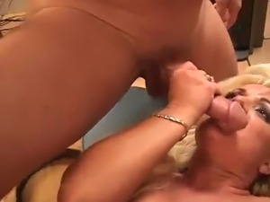 Montana A Blonde MILF around great boobs takes 2 pisser