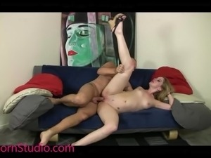 Casting Skinny Teen slut fucked and swallow Cum