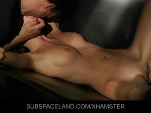 Virgin slave fuck in suspension cuffs during bdsm dominance