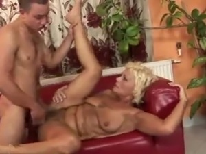55 y.o. Blondie takes a young Man's Shaft