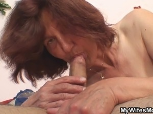 Cock hungry mother in law gets her old pussy drilled