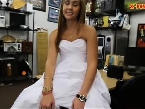 Girl pawns her wedding dress and rammed by pawn keeper