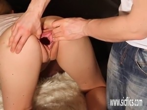 Hot amateur girl double fist fucked in her giant gaping pussy Fisting,...