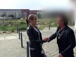 BumsBus - German Arianna Love gets her ass fucked in the van