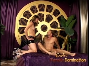 Bossy mistress punishes her boyfriend with some very painful