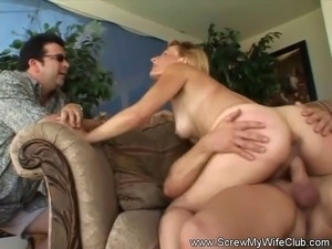 This horny housewife from Screw My Wife Club craves extreme intense sex and...