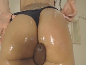 Brunette Girl Fucked By Black Big Sex Toy
