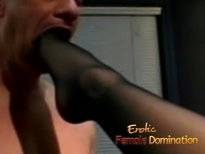 Bald stud tries female domination for the first time ever