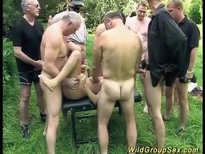 wild garden groupsex fuck orgy